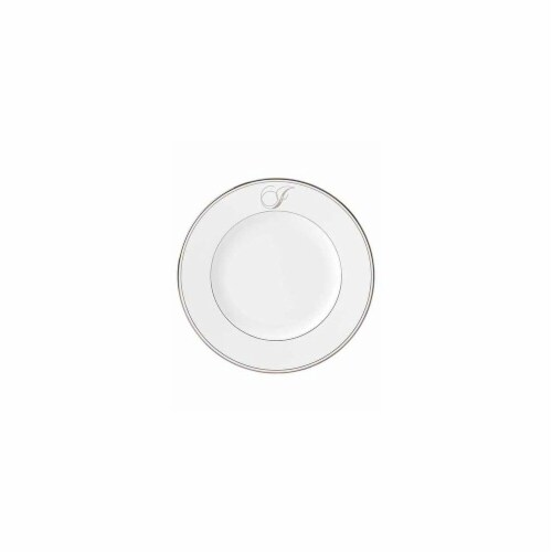 Lenox 10.8 in. dia. Federal Platinum Monogram Script Dinner Plate - I Perspective: front