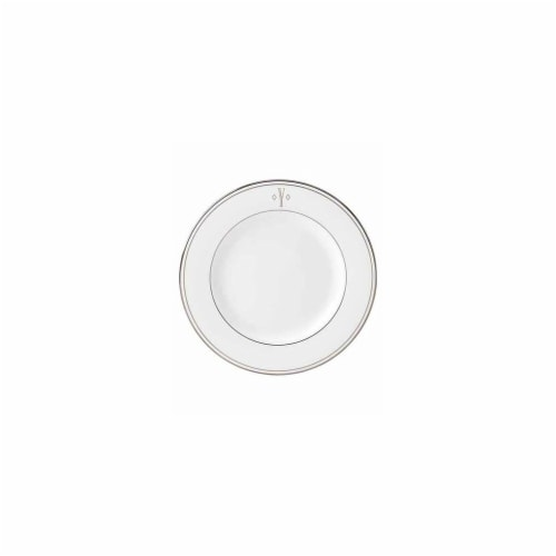 Lenox 8 in. dia. Federal Platinum Monogram Block Salad Plate - Y Perspective: front