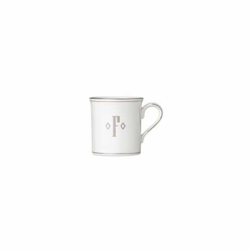Lenox  12 oz Federal Platinum Mono Block Dinnerware Mug - F Perspective: front