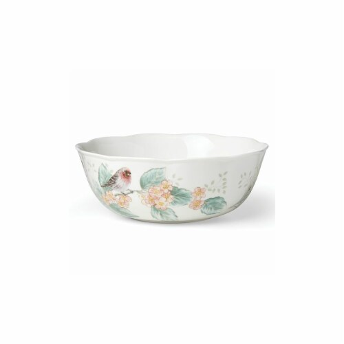 Lenox 882268 Butterfly Meadow Flutter Serving Bowl, White Perspective: front