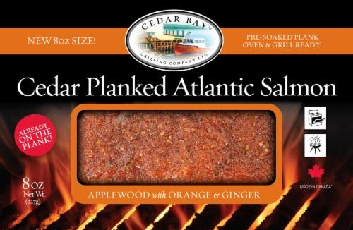 Cedar Bay Applewood w/ Orange & Ginger Cedar Planked Atlantic Salmon Perspective: front