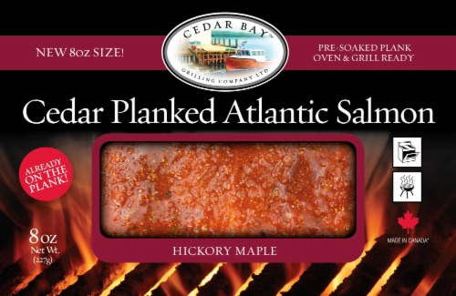 Cedar Bay Grilling Co. Hickory Maple Cedar Planked Atlantic Salmon Perspective: front