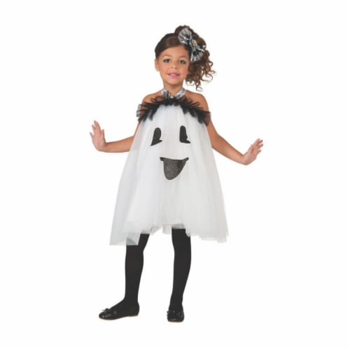 Rubies 404290 Girls Ghost Tutu Dress Child Costume, Medium Perspective: front