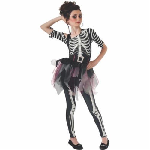 Rubies 404286 Girls Skelee Ballerina Child Costume, Medium Perspective: front