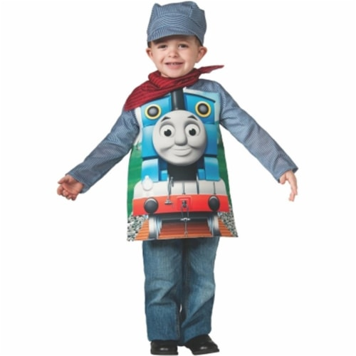 Rubies Costumes 219379 Deluxe Thomas The Tank Toddler-Child Costume, Red - White & Blue Perspective: front