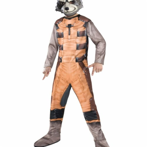 Rubies Costumes 274833 Guardians of The Galaxy Rocket Raccoon Child Costume - Large Perspective: front