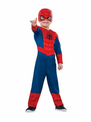 Seasons Toddler Size 2-4 Ultimate Spiderman Costume Perspective: front