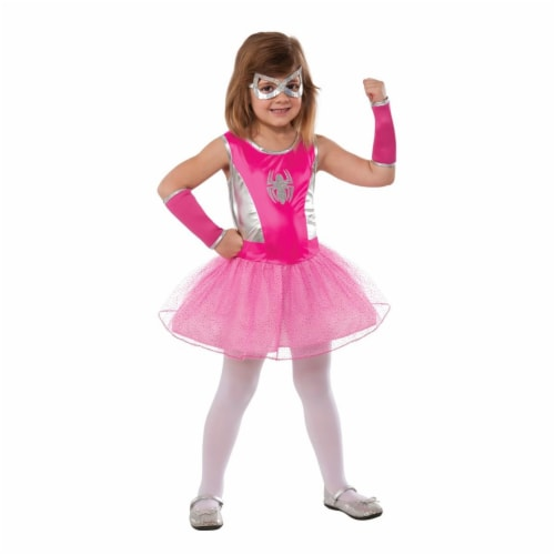 Rubie's Costumes 219352 Marvel - Pink Spider-Girl Costume, Medium 8-10 Perspective: front