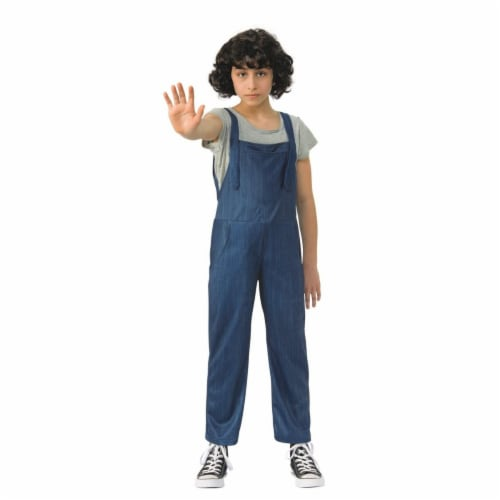 Rubies 279281 Halloween Stranger Things-Girls Elevens Overalls - Large Perspective: front
