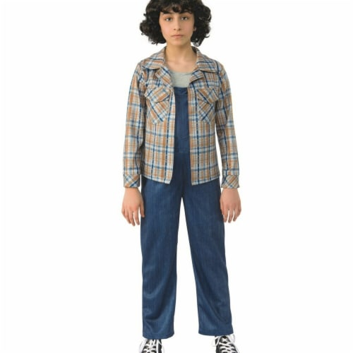 Rubies 279282 Halloween Stranger Things- Girls Elevens Plaid Shirt - Large Perspective: front