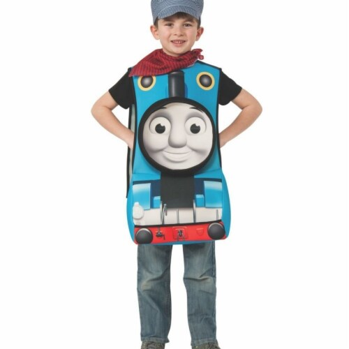 Rubies 406378 Child Deluxe Thomas the Train Costume for Boys, Small Perspective: front