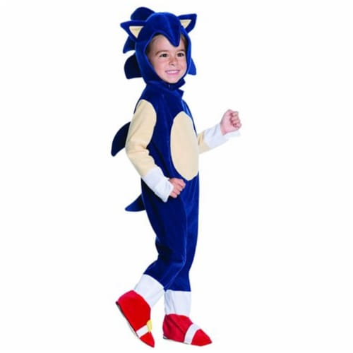 Rubies Costumes 242618 Sonic Toddler Romper Costume, Blue Perspective: front