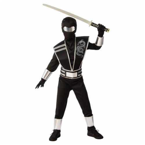Rubies Costumes 279330 Silver Mirror Ninja Costume - Large Perspective: front