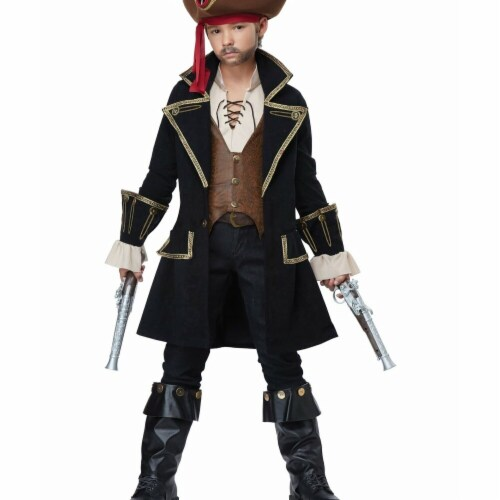 Rubies Costumes 279359 Child Pirate Captain Costume - Large Perspective: front