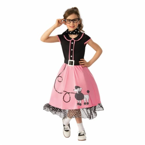 Rubies Costumes 279384 Girls 50s Sweetheart Costume - Small Perspective: front