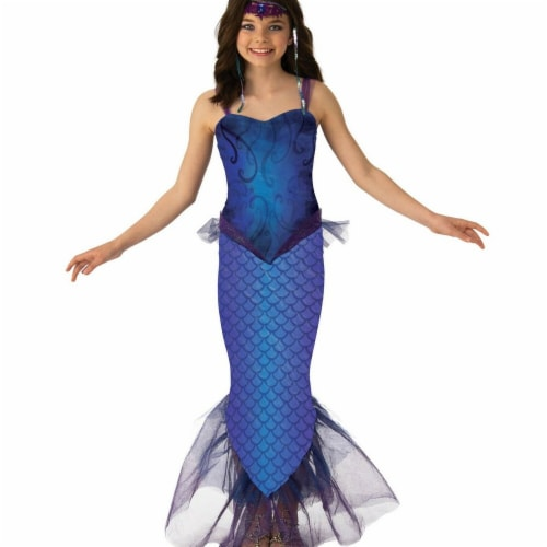 Rubies Costumes 279390 Girls Mysterious Mermaid Costume - Medium Perspective: front