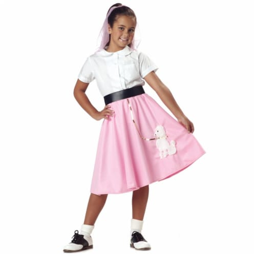 Rubie's Costumes 279392 Girls Poodle Skirt Costume - Large Perspective: front