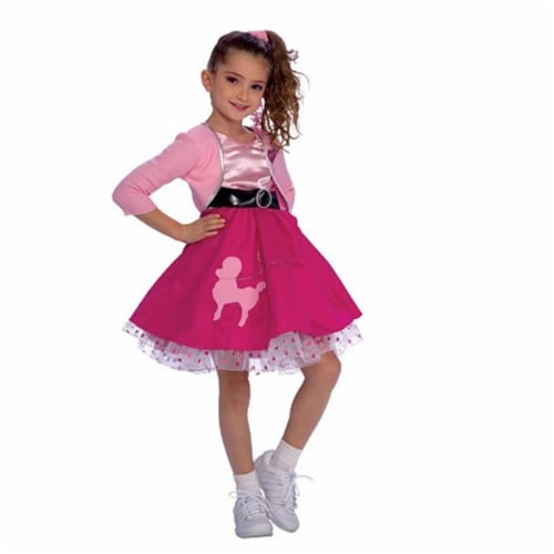 Rubies 279417 Girls 50s Sweetheart Costume - Large Perspective: front