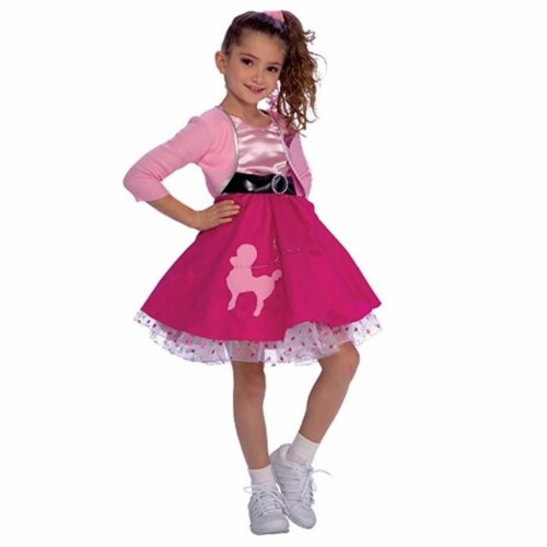 Rubies 279418 Polyester Girls 50s Sweetheart Costume, Medium Perspective: front
