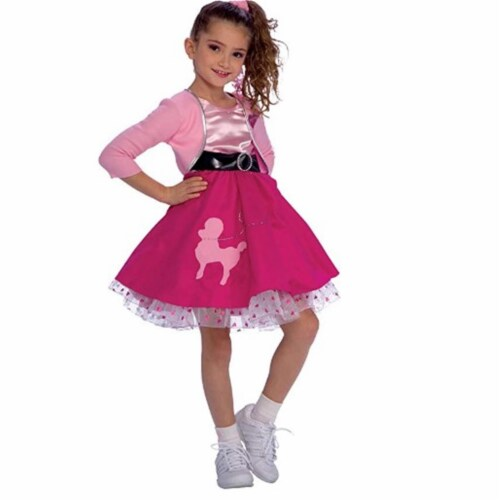 Rubies 279419 Girls 50s Sweetheart Costume, Small Perspective: front