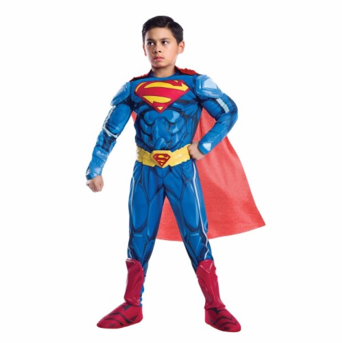 Rubies 272128 Superman Armored Premium Child Costume - Small Perspective: front