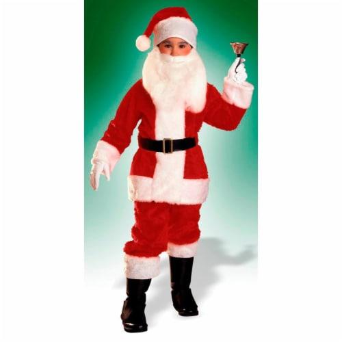 Rubies 275239 Boys Plush Santa Suit - Medium Perspective: front