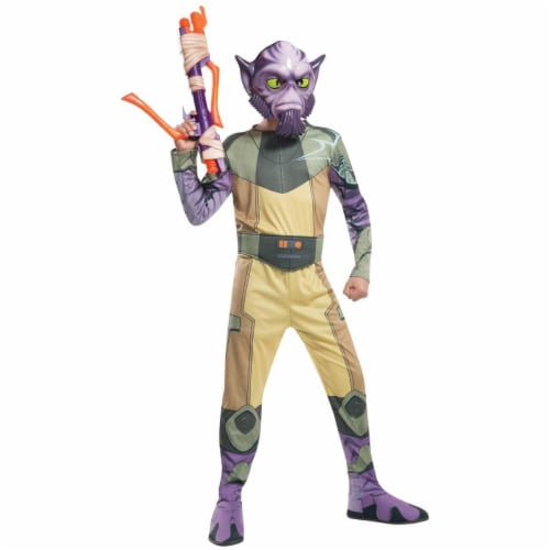 Rubies 284100 Star Wars Boys Zeb Costume, Small Perspective: front