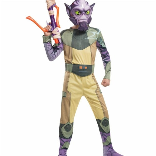 Rubies 284102 Star Wars Boys Zeb Costume, Large Perspective: front