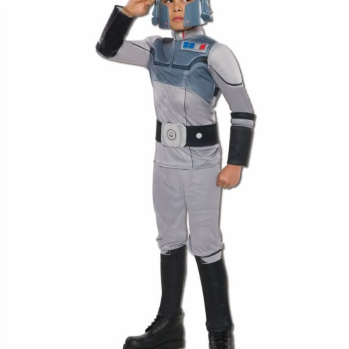 Rubies 284104 Star Wars Boys Deluxe Agent Kallus Costume, Medium Perspective: front