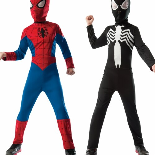 Morris Costumes RU880602MD Child Spiderman Reversible, Medium Perspective: front