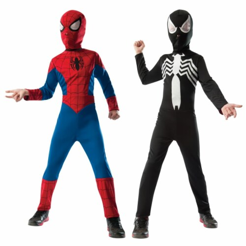 Morris Costumes RU880602LG Child Spiderman Reversible, Large Perspective: front