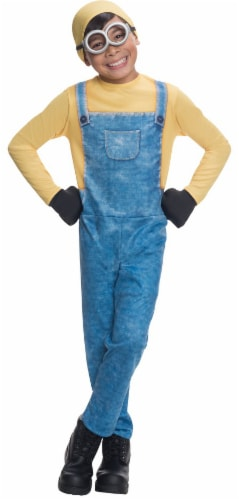 Rubies Children's Small Minion Bob Costume - 4 Piece - Blue/Yellow Perspective: front