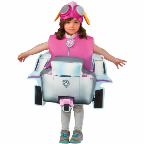 Rubies 244801 Paw Patrol Skye Deluxe Toddler Costume, Pink Perspective: front