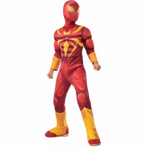 BuySeasons 286637 Iron Spider Deluxe Muscle Chest Kids Costume, Small Perspective: front