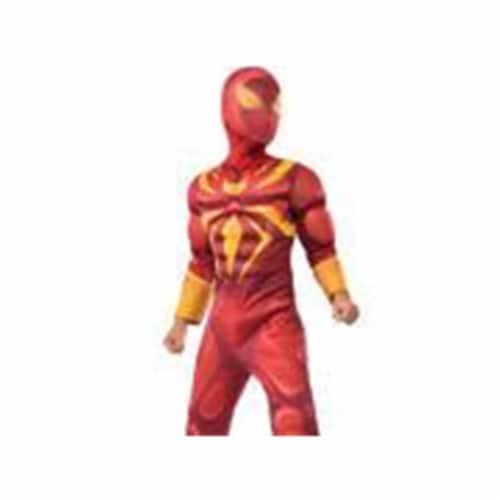 BuySeasons 286636 Iron Spider Deluxe Muscle Chest Kids Costume, Medium Perspective: front