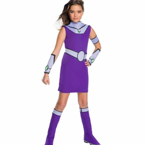 Rubies 279446 Teen Titan Go Movie Girls Starfire Deluxe Costume, Large Perspective: front