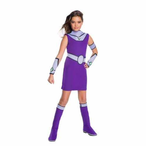 Rubies 279448 Teen Titan Go Movie Girls Starfire Deluxe Costume, Small Perspective: front