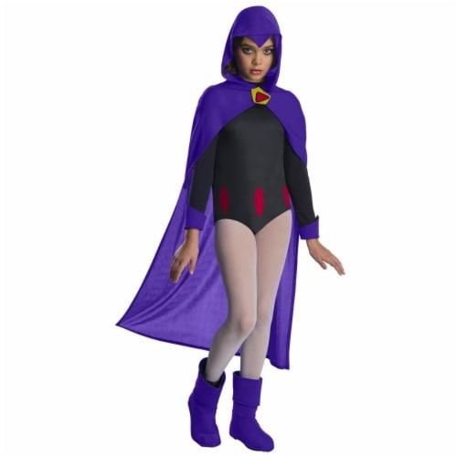 Rubies 279449 Teen Titan Go Movie Girls Raven Deluxe Costume, Large Perspective: front