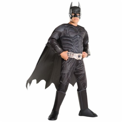 Rubies 404296 Child Batman the Dark Knight Deluxe Costume for Boys, Small Perspective: front