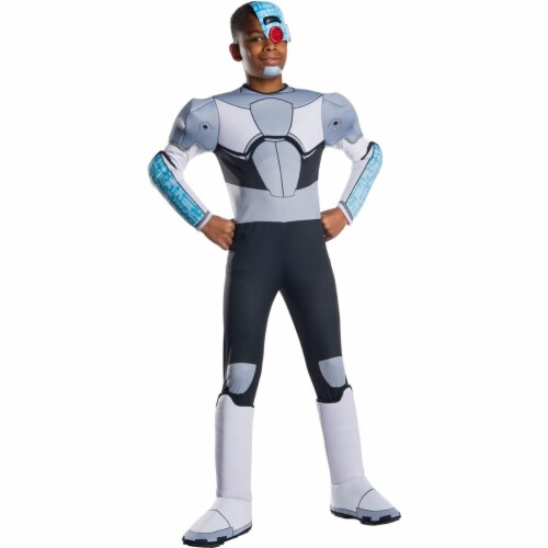 Rubies 279460 Teen Titan Go Movie Boys Deluxe Cyborg Costume, Large Perspective: front