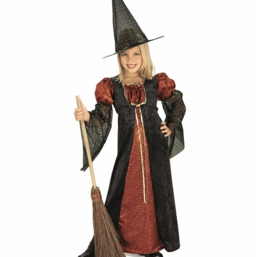 Rubies 406466 Girls Glitter Witch Child Costume, Small Perspective: front