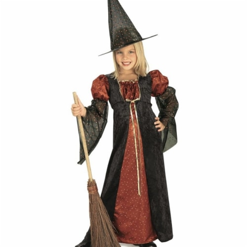 Rubies 406467 Girls Glitter Witch Child Costume, Medium Perspective: front