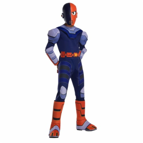 Rubies 279465 Polyester Teen Titan Go Movie Boys Deluxe Slade Costume, Small Perspective: front