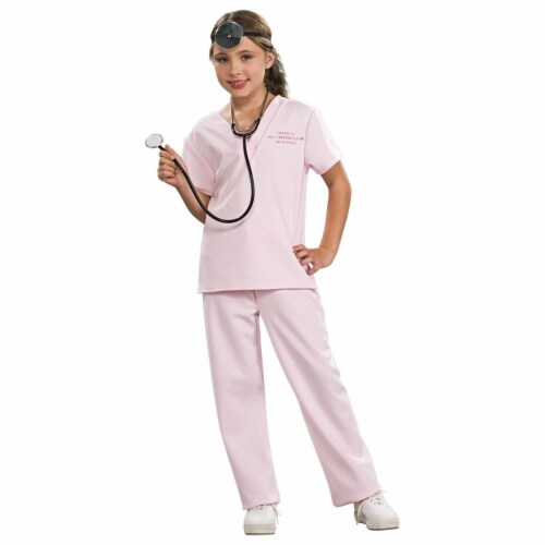 Rubies 271689 Veterinarian Pink Child Costume - Large Perspective: front
