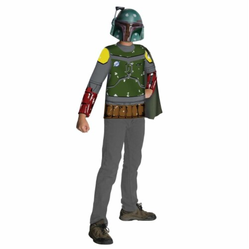 BuySeasons 281191 Star Wars Boba Fett Child Costume Kit, Large Perspective: front
