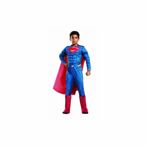 Rubies Costumes 244959 Batman v Superman - Dawn of Justice - Kids Deluxe Superman Costume, Bl Perspective: front