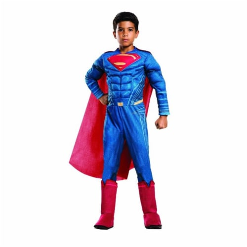 Rubies Costumes 244960 Batman v Superman - Dawn of Justice - Kids Deluxe Superman Costume, Bl Perspective: front