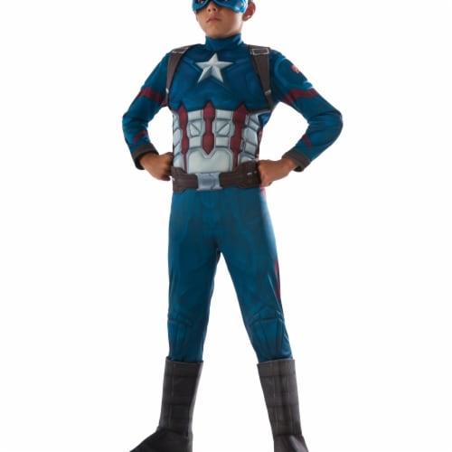 Morris Costumes RU620591MD Ca3 Captain America Child Costume, Medium Perspective: front