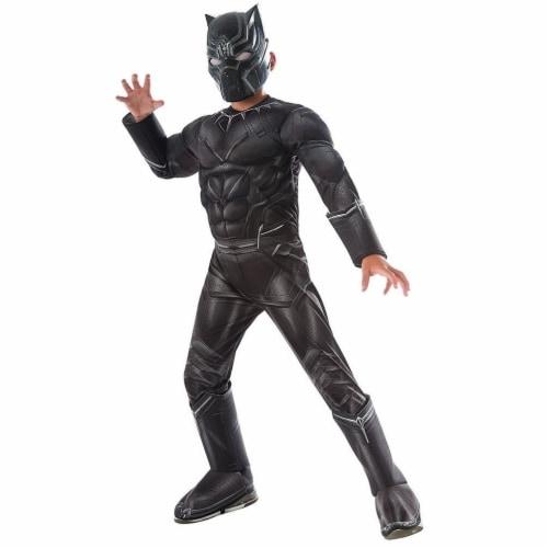 Rubies Costumes 244954 Marvels Captain America - Civil War Kids Panther Deluxe Muscle Chest C Perspective: front