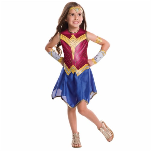 Rubies 273766 Dawn of Justice Wonder Woman Child Costume - Small Perspective: front
